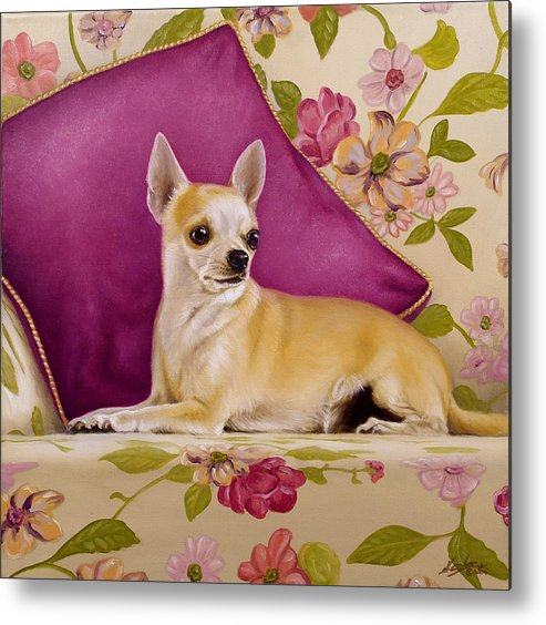 Chihuahua Metal Print featuring the painting Chihuahua II by John Silver