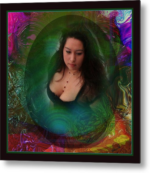 Semi-abstract Metal Print featuring the digital art Christan I by Otto Rapp