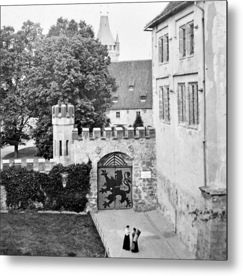 Coburg Castle Metal Print featuring the photograph Coburg Castle Germany 1903 by A Gurmankin