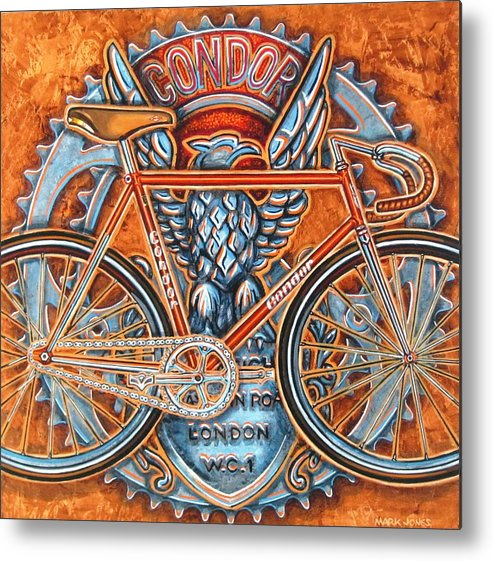 Bicycle Metal Print featuring the painting Condor Fixed by Mark Jones