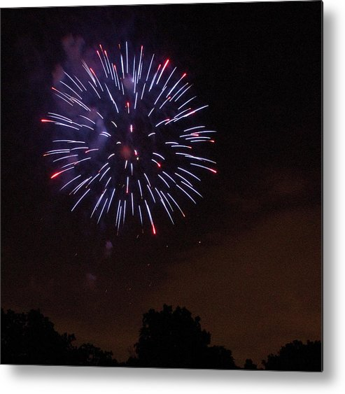 Cities Metal Print featuring the photograph Detroit Area Fireworks -9 by Paul Cannon