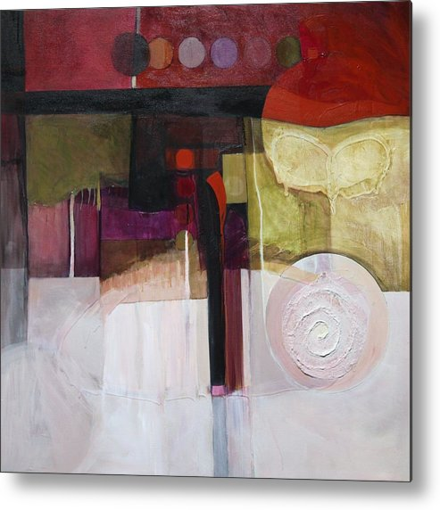 Paper Metal Print featuring the painting Drama Too by Marlene Burns