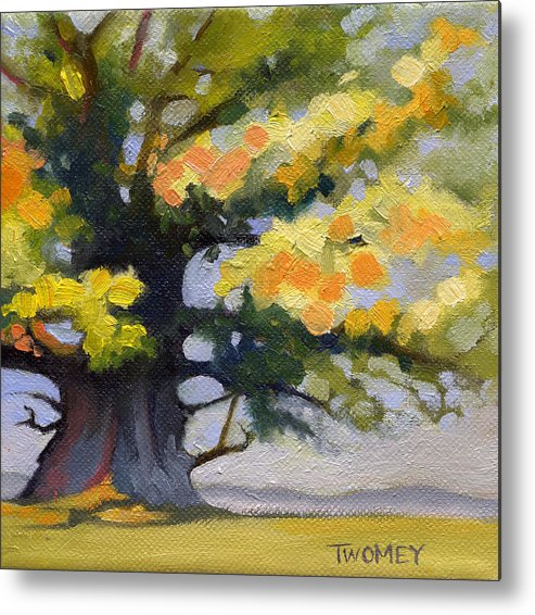 Oak Metal Print featuring the painting Earlysville Virginia Ancient White Oak by Catherine Twomey