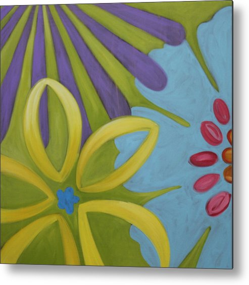 Flowers Metal Print featuring the painting Flowers Iv by Dee Cunningham