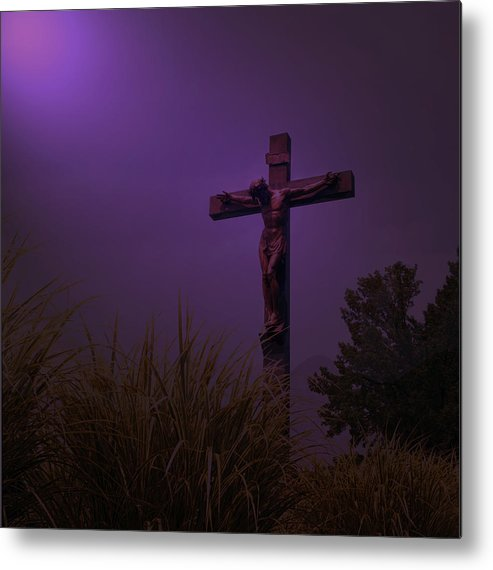 Forgive Them Metal Print featuring the photograph Forgive Them by Lawrence Costales