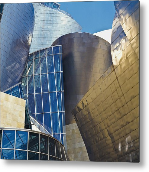 Outdoors Metal Print featuring the photograph Guggenheim Museum Exterior by David Constantine