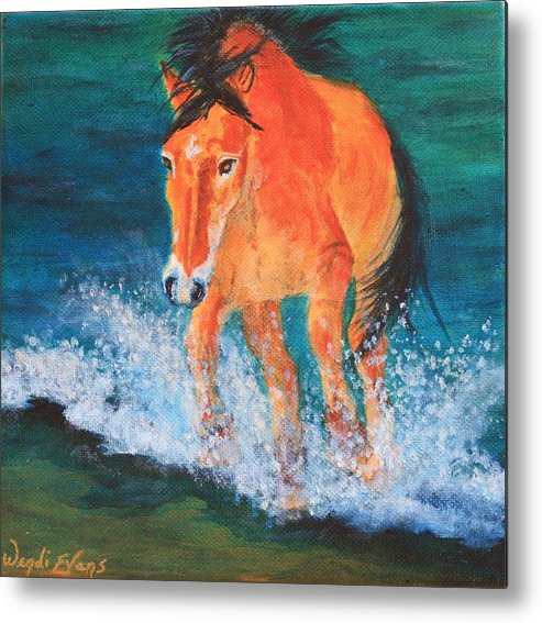 Horse Metal Print featuring the painting Gullivers Gallivant by Wendi Curtis
