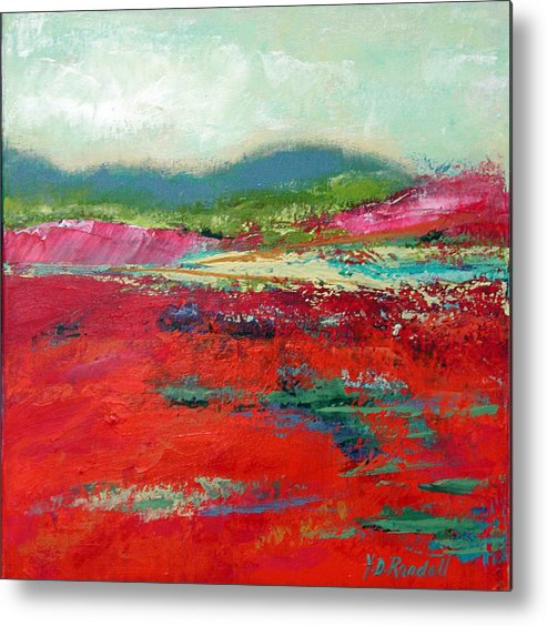 Landscape Metal Print featuring the painting Heartland by Donna Randall