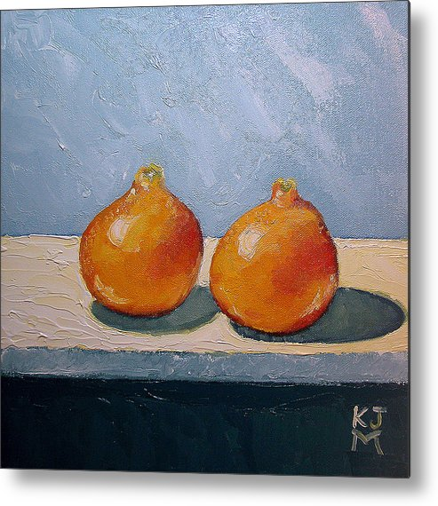 Honeybells Metal Print featuring the painting Honeybells - The Perfect Couple by Katherine Miller