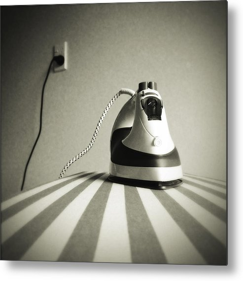Retro Metal Print featuring the photograph Iron by Les Cunliffe
