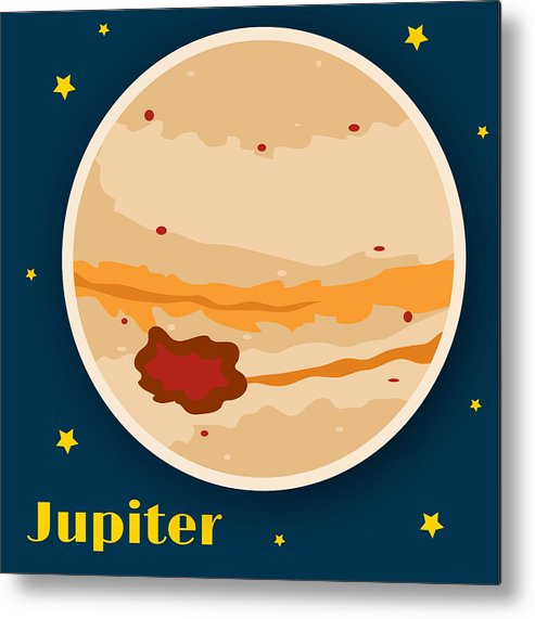 Jupiter Metal Print featuring the drawing Jupiter by Christy Beckwith