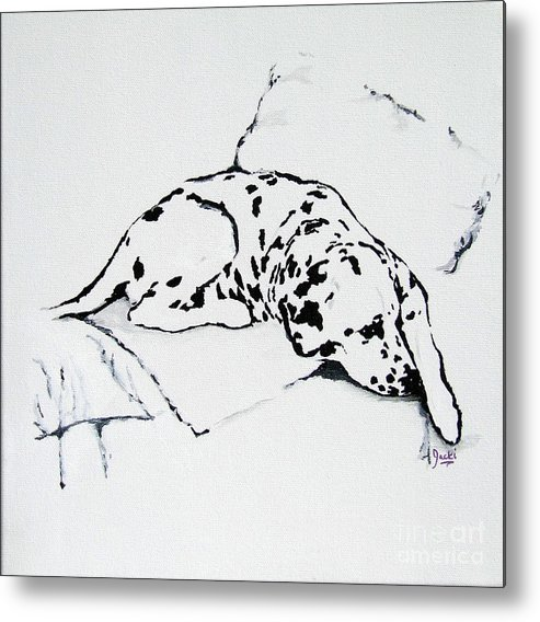 Dogs Metal Print featuring the painting Lazy Day by Jacki McGovern
