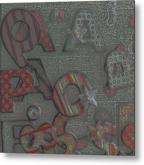 Letters Metal Print featuring the digital art Letters by Lovina Wright