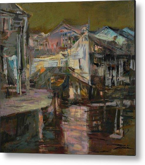 Landscape.landscape.landscape Seris Metal Print featuring the painting memory of hometown No.6 by Zheng Li