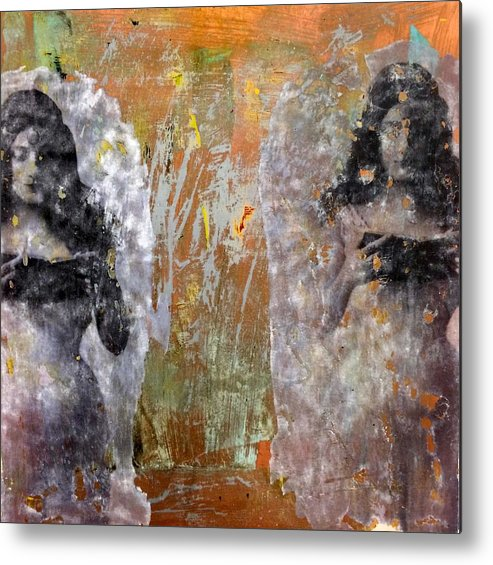 Image Transfer Metal Print featuring the painting Memory One by Melissa Armstrong