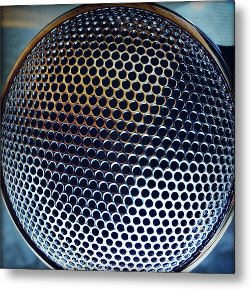 Metal Metal Print featuring the photograph Metal Mesh by Les Cunliffe