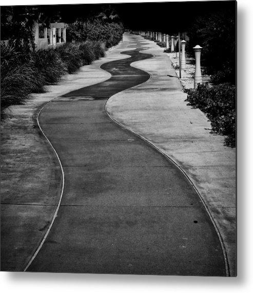 Miami Beach Metal Print featuring the photograph Miami Beach Boardwalk by Shahiz Almonte