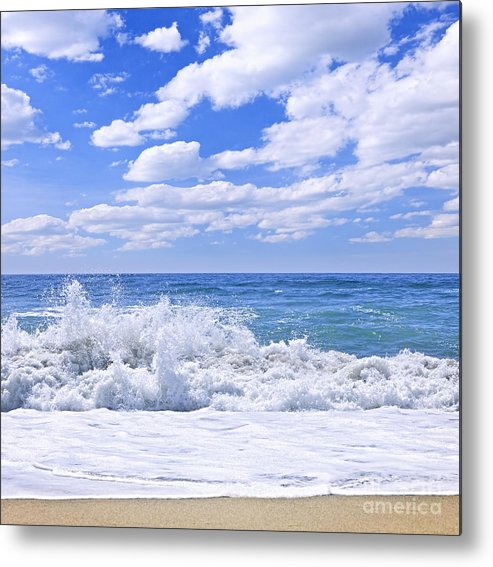 Surf Metal Print featuring the photograph Ocean Surf by Elena Elisseeva