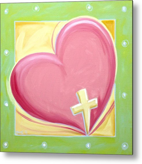 Christ Metal Print featuring the painting One Love by Dee Cunningham