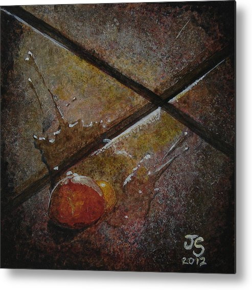 Kitchen Decor Metal Print featuring the painting One Short Of A Dozen by J Trent Sunderland