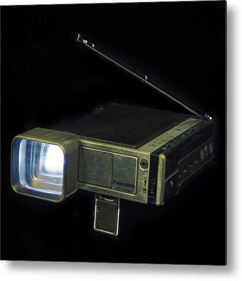 Retro Metal Print featuring the photograph Panasonic Portable Tv by Will D'angelo