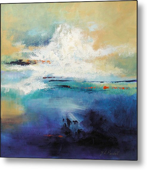 Sky-scape Metal Print featuring the painting Peaceful Turbulence by Donna Randall