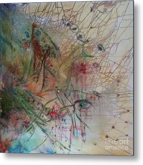 Abstract Metal Print featuring the painting River by Avonelle Kelsey