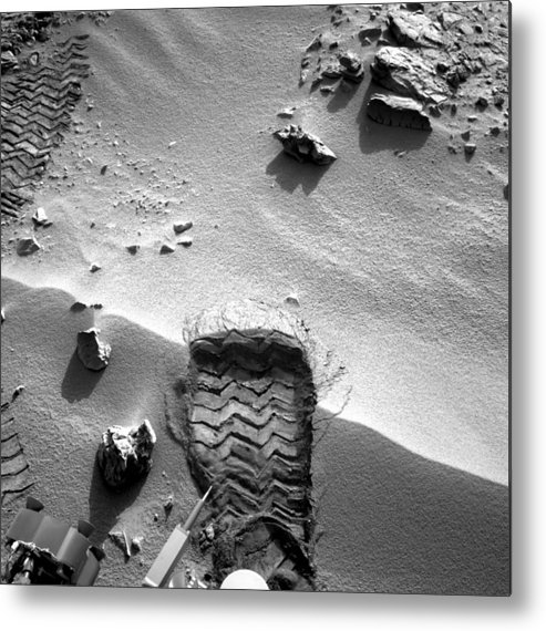 3 October Metal Print featuring the photograph Rocknest Site, Mars, Curiosity Image by Science Photo Library