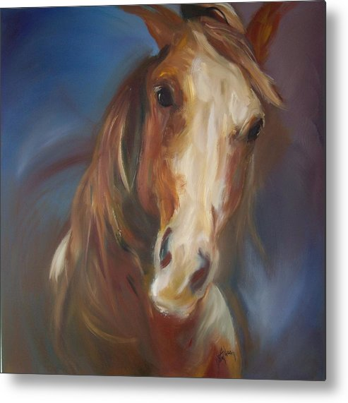 Horse Metal Print featuring the painting Running Free by Debbie Anderson