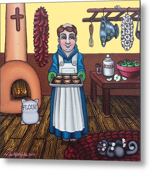 San Pascual Metal Print featuring the painting San Pascuals Empanaditas by Victoria De Almeida