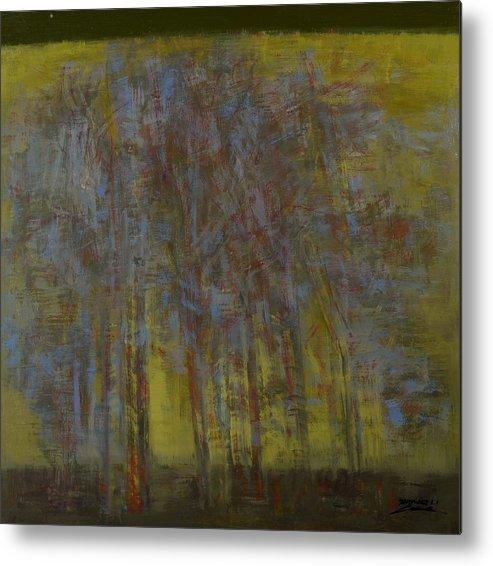 Landscape.landscape.landscape.landscape Seris Metal Print featuring the painting season No.1 by Zheng Li