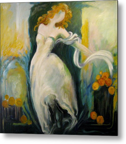 Dancer Metal Print featuring the painting Serene Dancer by Jessy