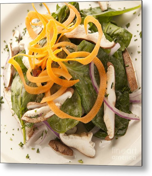 New Orleans Metal Print featuring the photograph Spinach Salad by New Orleans Food