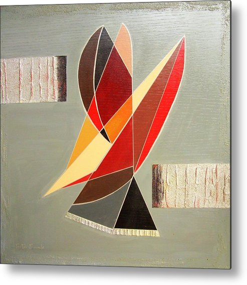 Abstract Metal Print featuring the painting Standing With 1 Of 2 Pcs. by Gigi Cook