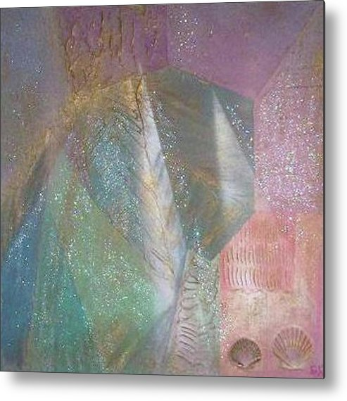 Shell Metal Print featuring the painting Starburst by Gigi Cook