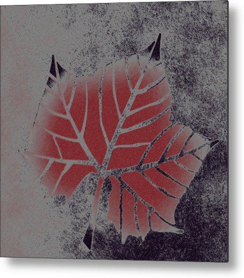 Leaf Metal Print featuring the digital art Sycamore Leaf by Lovina Wright