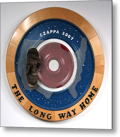 Shoe Metal Print featuring the sculpture The Long Way Home #27 by Bill Czappa