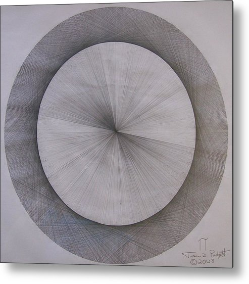 Pi Metal Print featuring the drawing The Shape Of Pi by Jason Padgett