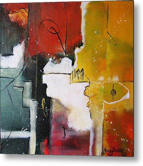 Abstract Artwork Metal Print featuring the painting The Spirit by Gary Smith