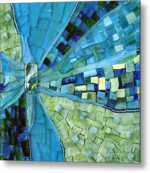 Mosaic Metal Print featuring the photograph Tranquility by Valerie Fuqua
