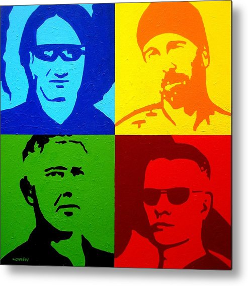 Acrylic Metal Print featuring the painting U2 by John Nolan