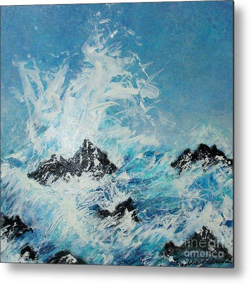 Freddie Lieberman Metal Print featuring the painting Wild Blue Too by Freddie Lieberman