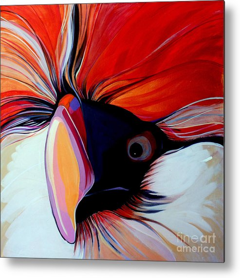 Bird Metal Print featuring the painting Wild Thang by Marlene Burns