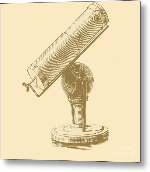 17th Century Metal Print featuring the photograph Newtons Little Reflector by Science Source