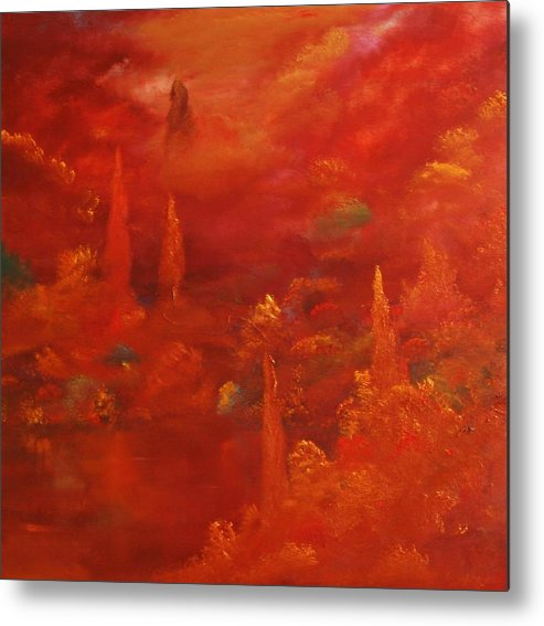 Landscape Metal Print featuring the painting Untitled 23 by David Snider