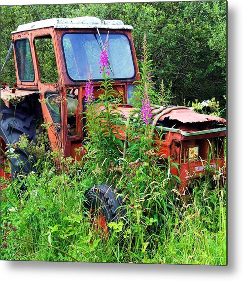 Tractor Metal Print featuring the photograph Abandoned Tractor by Kevin Sean Oconnell