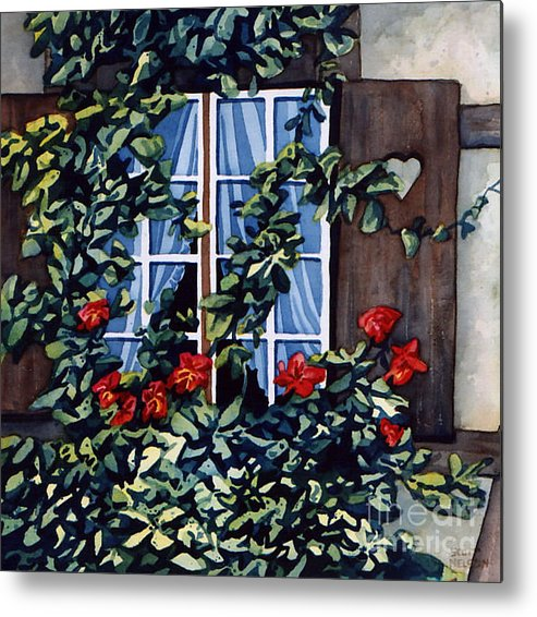 Alsace Metal Print featuring the painting Alsace Window by Scott Nelson