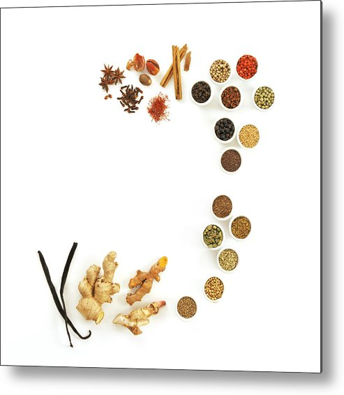 Food Metal Print featuring the photograph Assortment Of Spices by David Munns