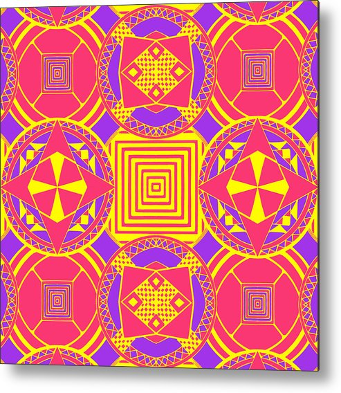 Digital Art Metal Print featuring the digital art Candy Wrapper by Sumit Mehndiratta