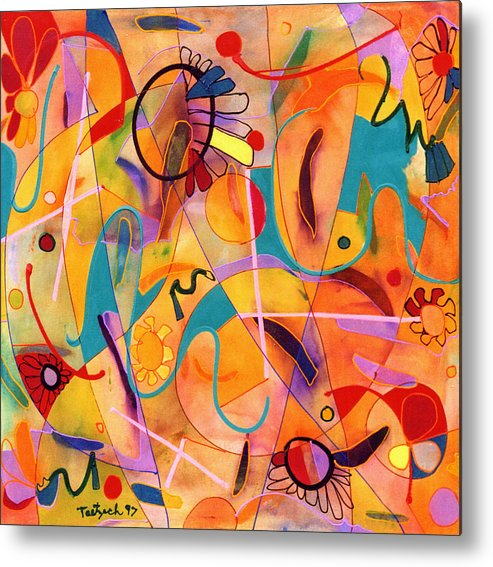 Abstract Metal Print featuring the painting Daisy May by Lynne Taetzsch